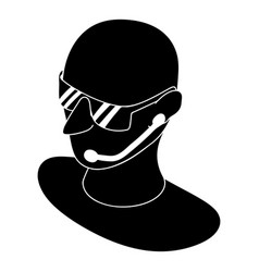 security man icon simple style vector image
