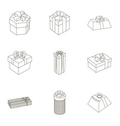 A set of pictures gifts gifts for different vector