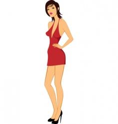beauty model woman posing illustration vector image vector image