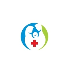 Family medicine practice abstract sign vector image