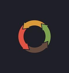 organic computer symbol vector image vector image