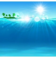 Tropical island at the ocean for vacation design vector image
