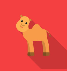 camel flat icon for web and mobile vector image
