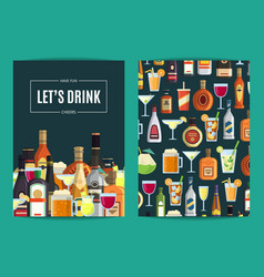 card flyer or brochure template for bar vector image