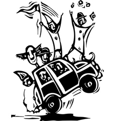 Clown Car vector image vector image