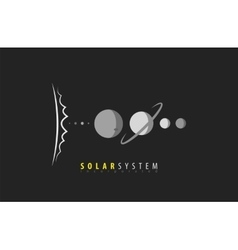 Solar System Sun Planets Universe Space vector image vector image