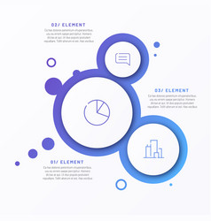 abstract gradient minimalistic infographic vector image
