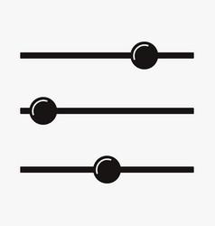 Adjustment button icon filter control symbol vector