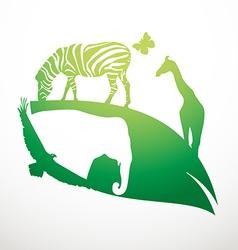Animal life vector