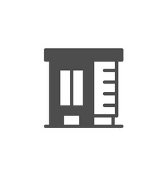Apartment house glyph modern icon vector