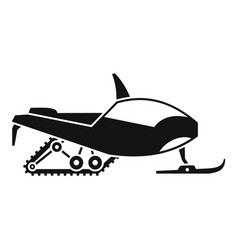 arctic snowmobile icon simple style vector image