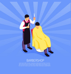 barber isometric vector image
