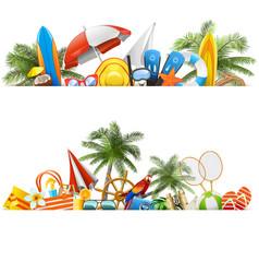 beach borders vector image