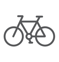 bicycle line icon cycle and sport bike sign vector image
