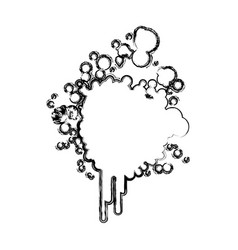 Blurred silhouette ink splash icon vector