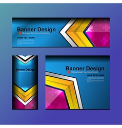 business banner geometric design vector image