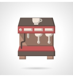 Coffee brewing machine flat design icon vector