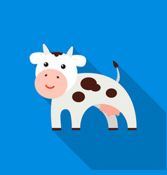 Cow flat icon for web and mobile vector
