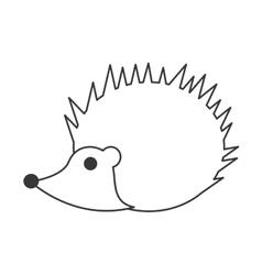 Cute porcupine cartoon icon vector