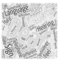 deaf telephone Word Cloud Concept vector image