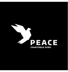 Dove of peace logo in the style quality vector image