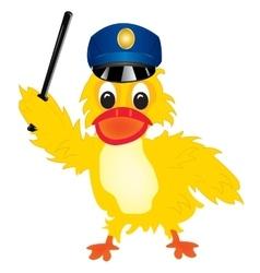Duck police vector image