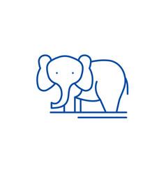 elephant line icon concept elephant flat vector image