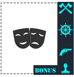 festive masks icon flat vector image