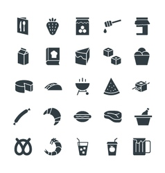 Food Cool Icons 8 vector image