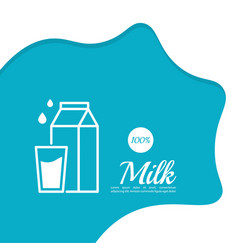 glass bottle of milk vector image