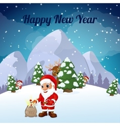 Greeting Cards Happy New Year and Merry Christmas vector