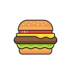 Hamburger icon sign vector