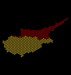 honeycomb cyprus countries map vector image