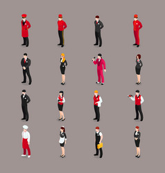 Hospitality staff characters collection vector