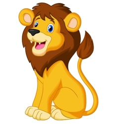 Lion cartoon sitting vector