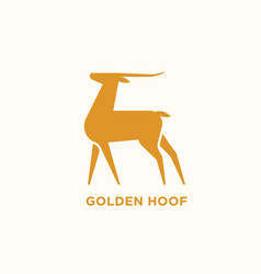 Logotype with silhouette antelope or gazelle vector