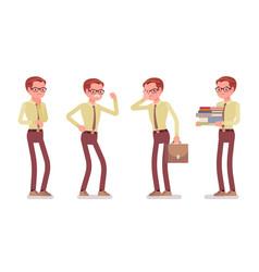 Male clerk negative emotions vector