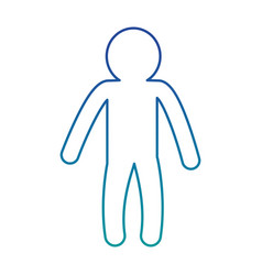 male human silhouette icon vector image