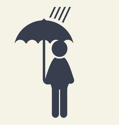 man with umbrella icon vector image