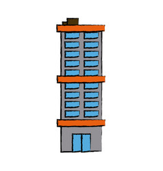 modern building high structure urban exterior vector image