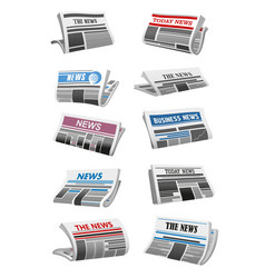 Newspaper 3d icon folded news paper sheet vector