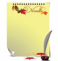 Note page November vector