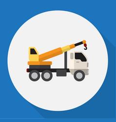 Of vehicle symbol on crane vector