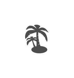 palm tree silhouette logo vector image