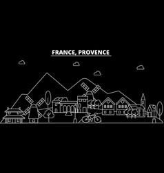 Provence silhouette skyline france - provence vector