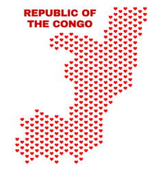 republic of the congo map - mosaic of valentine vector image