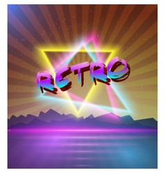 Retro Music Abstract Poster Cover 1980s Background vector