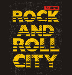 Rock n roll festival vector