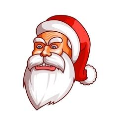 Santa claus emotions Part of christmas set Rage vector