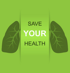 save your health vector image